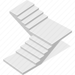stair, staircase, stairs, stairway icon