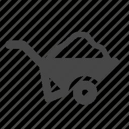 barrow, building, construction, construction site, move, wheelbarrow, work icon