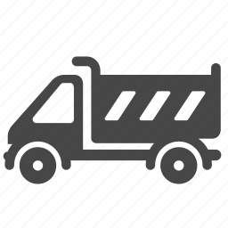 construction, delivery, dump truck, heavy equipment, transport, truck, vehicle icon