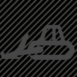 backhoe, bulldozer, construction, front loader, loader, shovel, skid steer icon