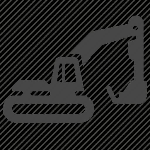 backhoe, bulldozer, construction, excavators, heavy equipment, loader, scoop icon