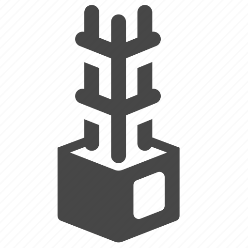 architecture, building, construction, foundation, pile, piling, stake icon