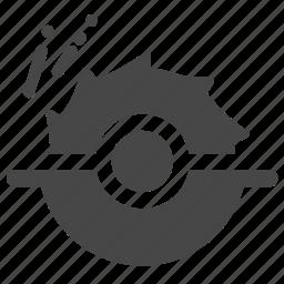 circular saw, construction, cut, cutting, equipment, saw, tool icon