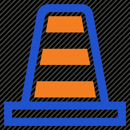 cone, construction, traffic, traffic cone icon