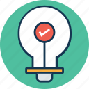 bulb, electric light, electrical bulb, illumination, light, light bulb, luminaire icon