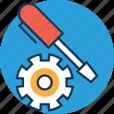 cog, cogwheel, edit, preferences, screwdriver, settings, setup icon