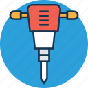 auger, construction equipment, dig tool, drain, drilling, gimlet machine, hand tool icon