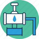 faucet, gas tap, plumbing, spigot valve, tap, water supply, water tap icon