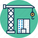 crane loading, crane loading cargo, crane loading ship, heavy machinery crane, lifting, lifting machine, shipping icon