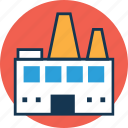 factory, industry, manufacturer, manufacturing plant, mill, refinery, warehouse icon