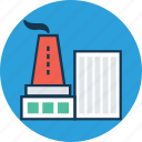 cooling tower, generating plant, generating station, nuclear plant, power plant, power station, powerhouse icon