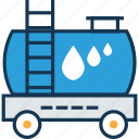 fuel tanker, fuel truck, gas, gas truck, oil container, oil delivery, oil vehicle icon