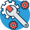 cogwheel, gear wheel, preferences, repair tool, settings, spanner, wrench icon