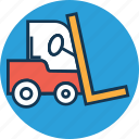 bendi truck, counterbalanced truck, fork truck, forklift, golf cart, industrial transport, logistic icon
