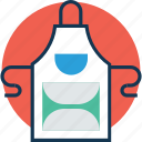 apron, chef apron, chef uniform, construction wear, cook uniform, cooking apparel, kitchen pinafore icon