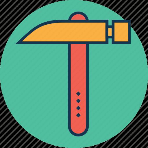 claw hammer, construction, hammer, hand tool, nail fixer, nail hammer, work tool icon