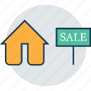 estate sign, for sale, home, house, house for sale, property sign, sale sign icon