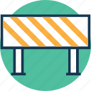 barrier, construction barrier, guard barrier, hurdle, road barrier, street barrier, traffic barrier icon