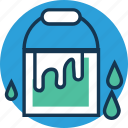 bucket, can, pail, paint bucket, paint can, water bucket, water container icon