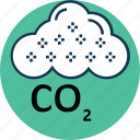 carbon cloud, cloud, co2 emission, co2 formula, dioxide, ecology waste, gas icon