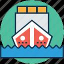 cargo ship, merchant ship, sailing vessel, shipment, shipping, shipping cruise, vehicle icon