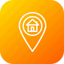 find, home, location, mark, navigation, pin icon