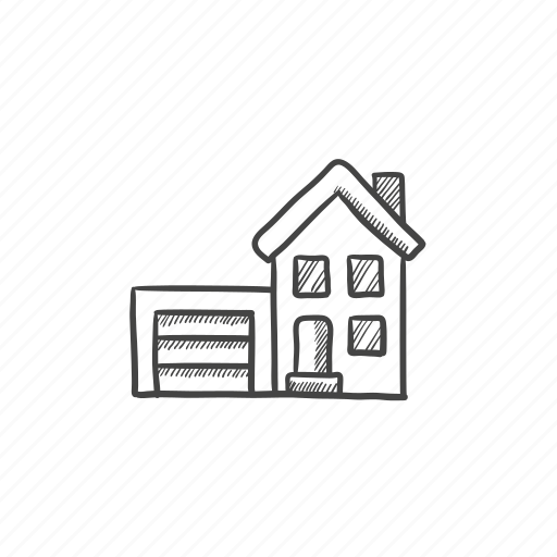 apartment, cottage, dwelling, garage, house, property icon