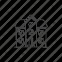 exterior, house, living, storey, town, two, urban icon