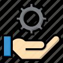 edit, feature, gear, hands, process, settings, tools