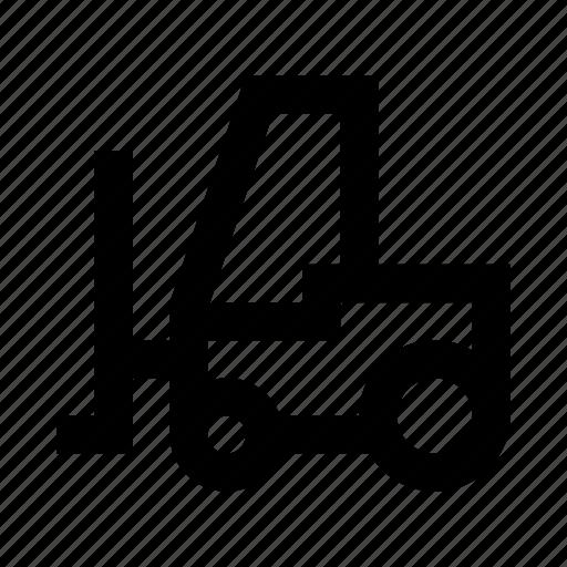 autoloader, forklift, loader, storage, transport, transportation, warehouse icon