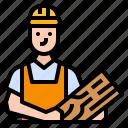 avatar, carpenter, craft, professional, technician