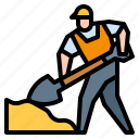 avatar, construction, shovel, under