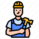avatar, professional, technician, worker icon