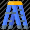 builder, construction, ladder, step, tool