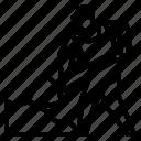 avatar, construction, shovel, under icon