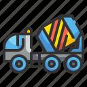 cargo, cement, concrete, construction, mixer, transport, truck