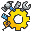 cogwheel, construction, engineer, gear, industry, maintenance, tools icon