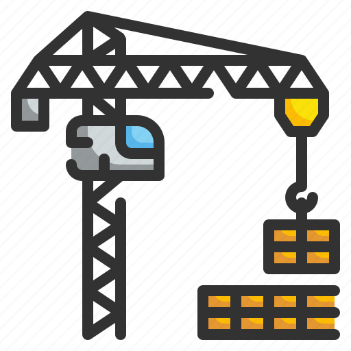 Buildings, construction, crane, hook, industry, lift, property icon - Download on Iconfinder