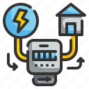 building, electricity, electronics, house, panel, power, smarthome