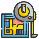 equipment, length, measure, miscellaneous, scale, tape, tool icon