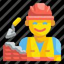 builder, building, construction, labour, labourer, profession, workman icon