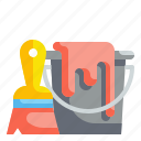 bucket, color, construction, container, pail, paint, tool icon