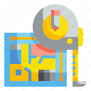 adhesives, equipment, length, measure, scale, tape, tool icon