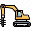 construction, drilling, machine, tool, tools, worker icon