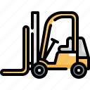 construction, forklift, storehouse, tool, tools, warehouse, worker icon