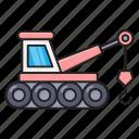 building, construction, crane, hook, machinery