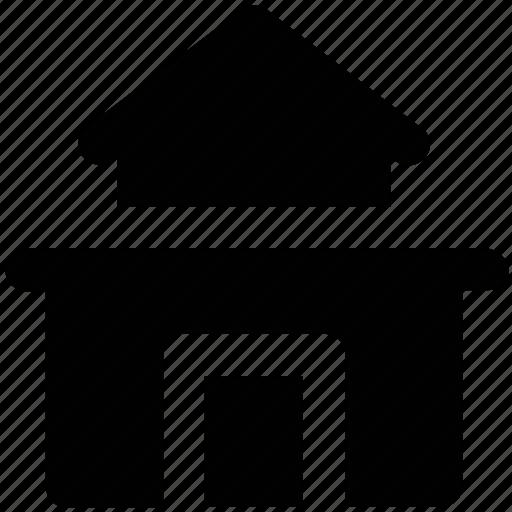 building, building construction, home, home construction, house, hut, village icon