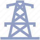 construction, electric, high, industry, tower, voltage icon