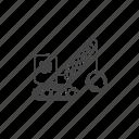 breakdown, crane, demolition, destroy, heavy, logistics, ruin icon