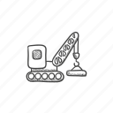 build, construction, crane, heavy, industrial, work icon